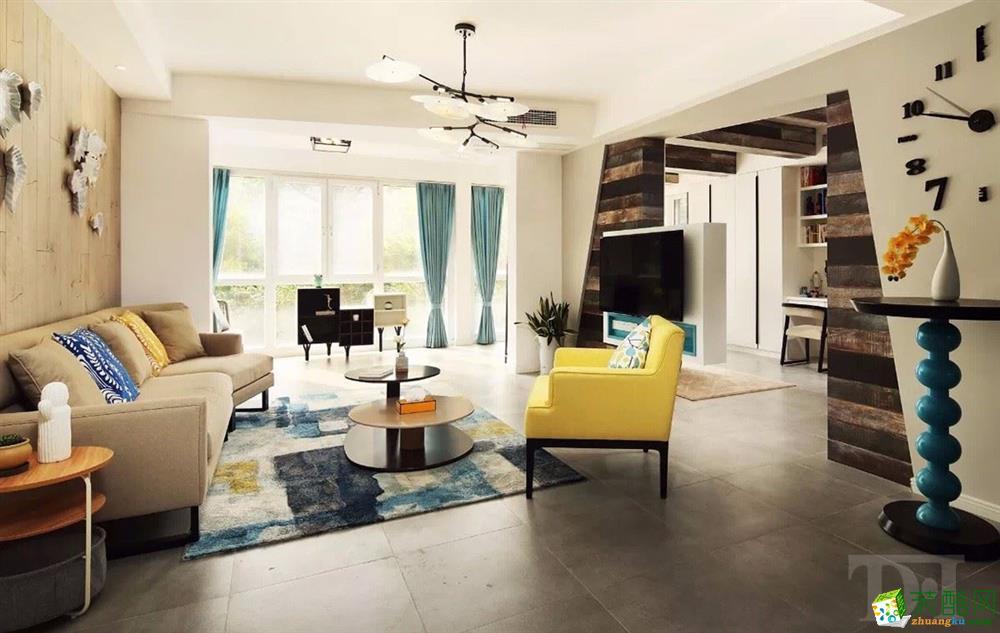 【南京天地和裝飾】中電頤和家園房子北歐風格四室兩廳設計圖