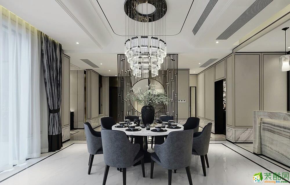 隆鑫鸿府300平米中式风格别墅住宅装修案例赏析--佳天下装饰
