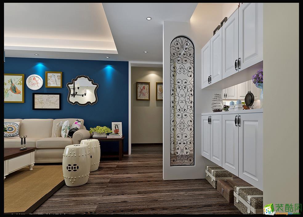 【永信装饰】129�O现代美式风格三居装修效果图欣赏
