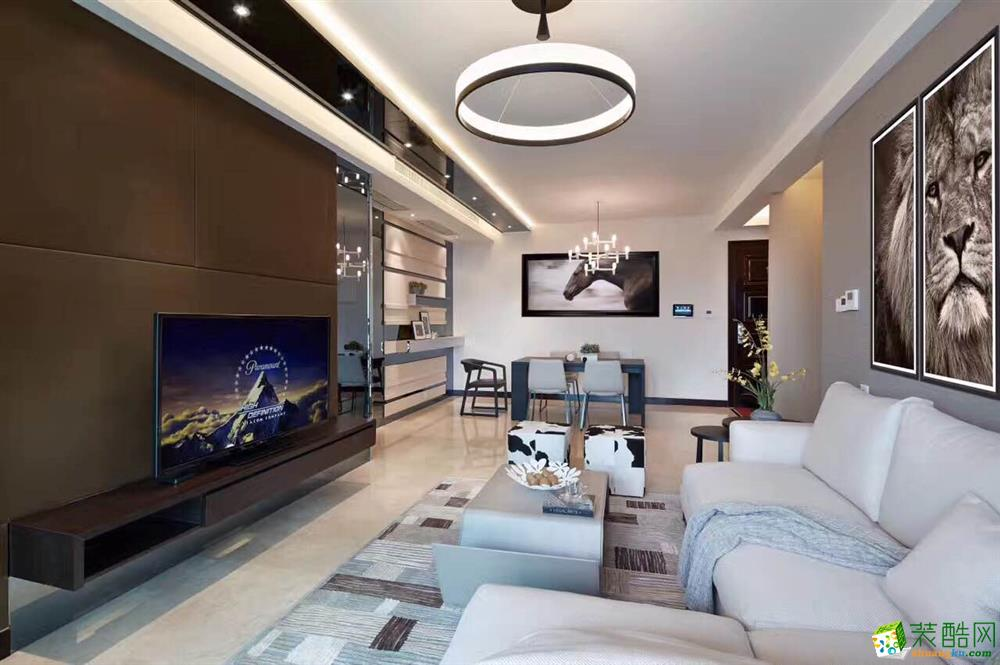 【绵阳星艺装饰】玫瑰花城雅居92方两室两厅现代风格装修效果图