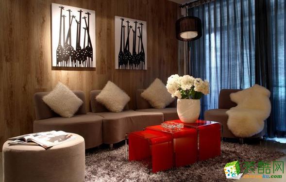 三门峡元洲装饰-88平现代时尚风装修效果图