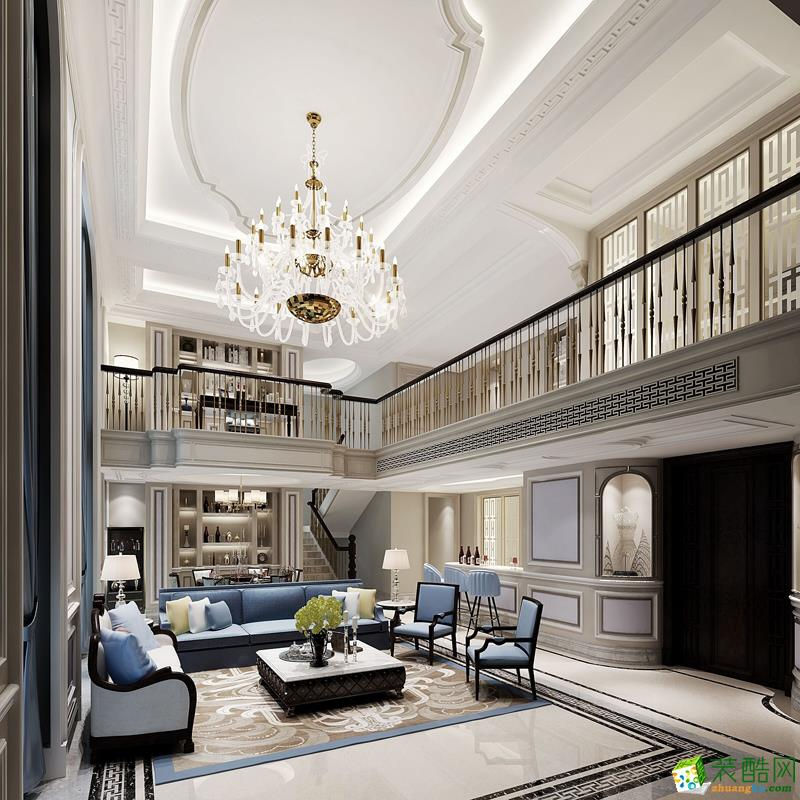 198平米豪华风格复式楼装修实景案例--精饰界装饰