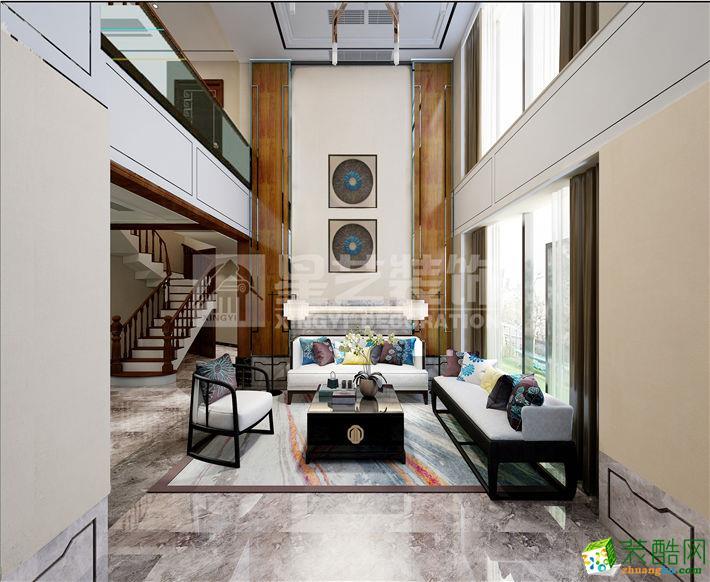 新中式风格130平米复式楼装修实景案例--星艺装饰