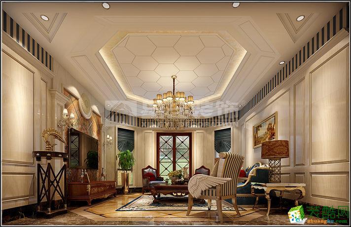 欧式风格273平米别墅住宅装修实景案例--星艺装饰