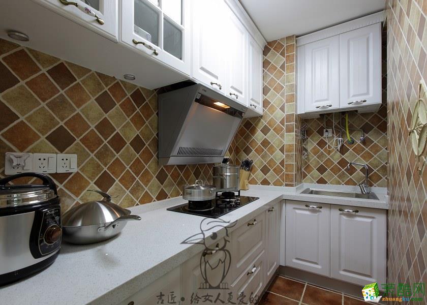 厨房 绵阳吉匠装饰—神州南都83㎡两室两厅美式风格装修设计效果图