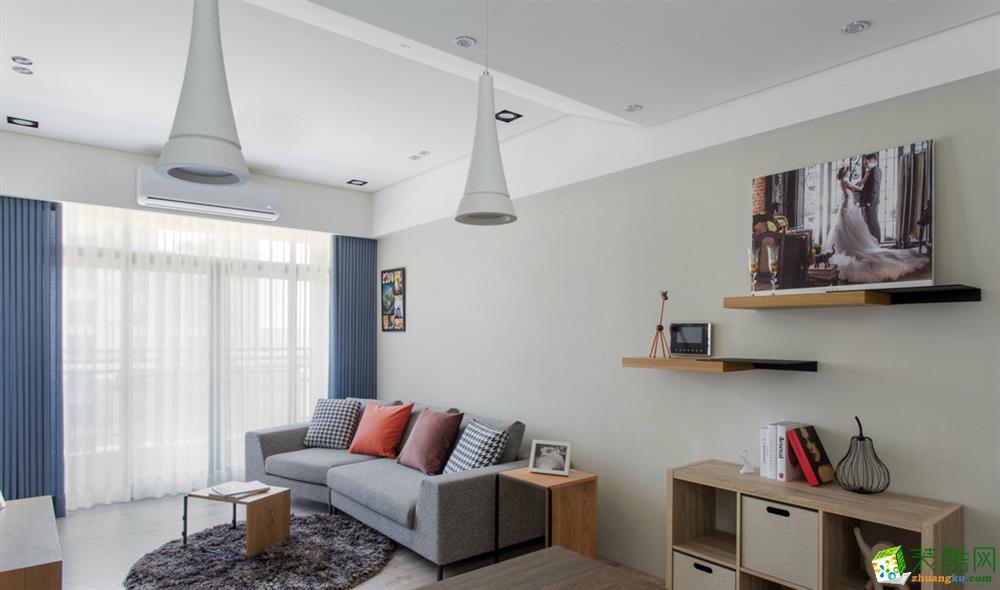 >> 绵阳逸品装饰—82方朴素的北欧风格两居室装修效果图
