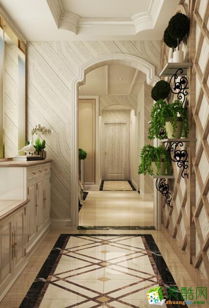 【铭典装饰】英郦庄园140方简欧风格三居室装修设计效果图