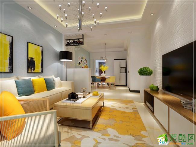 未来方舟现代简约风格116平米三室两厅装修案例---创艺装饰