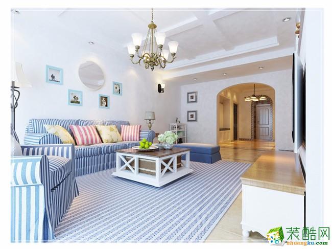 国际城120平米地中海风格三室两厅装修案例图---创艺装饰