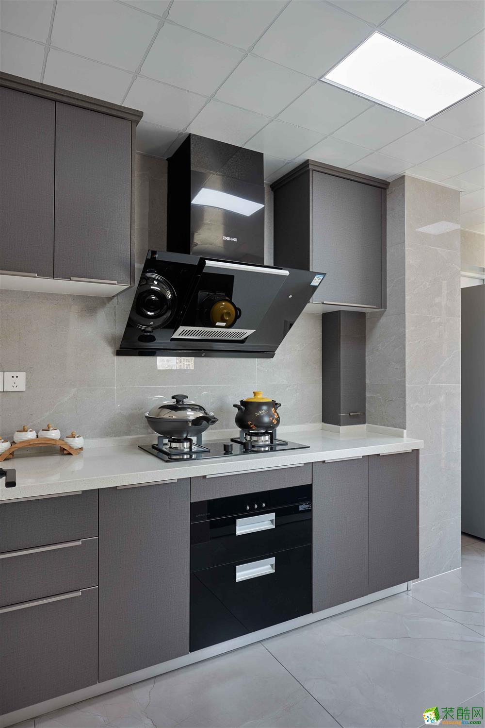 厨房  【恒彩装饰】都景公寓130�O新中式风格,让心灵做个有氧呼吸