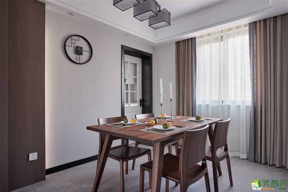 餐厅  【恒彩装饰】都景公寓130�O新中式风格,让心灵做个有氧呼吸
