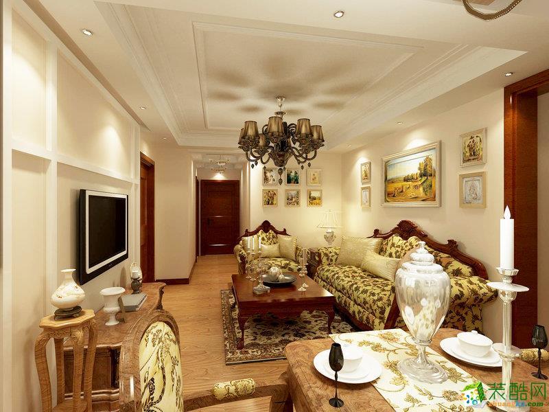 悦腾装饰―108方复古欧式风格三居室装修效果图