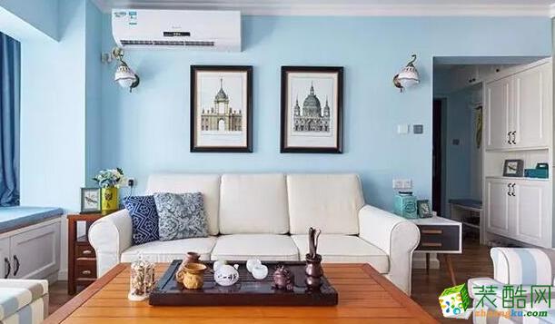 松原新世纪装饰-美式三室装修效果图