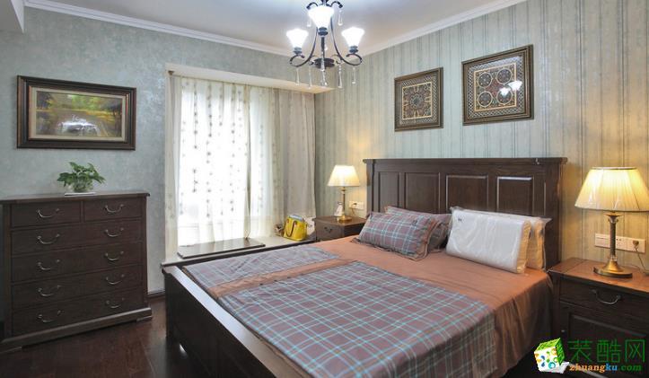 卧室  松原福康装饰-美式三室装修效果图