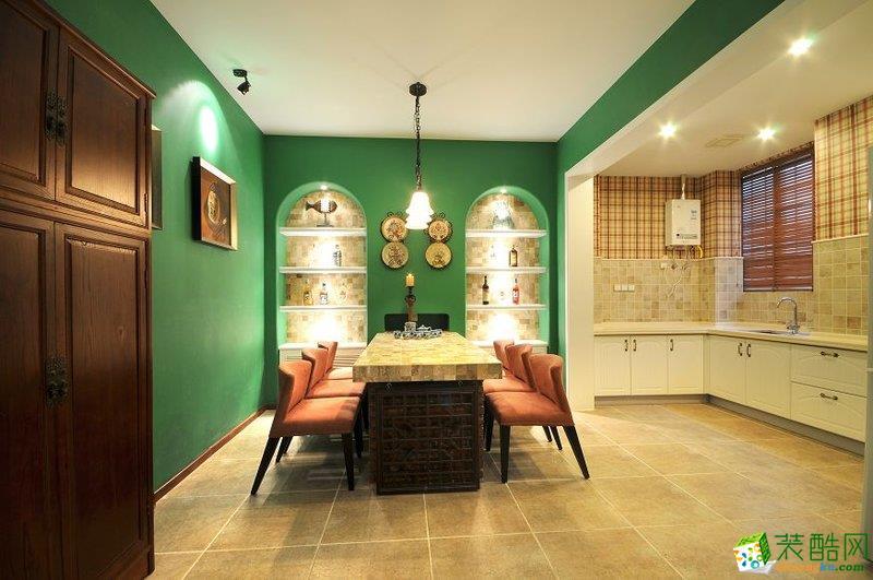 地中海风格155平米四室两厅装修设计案例图--宜宾星艺装饰