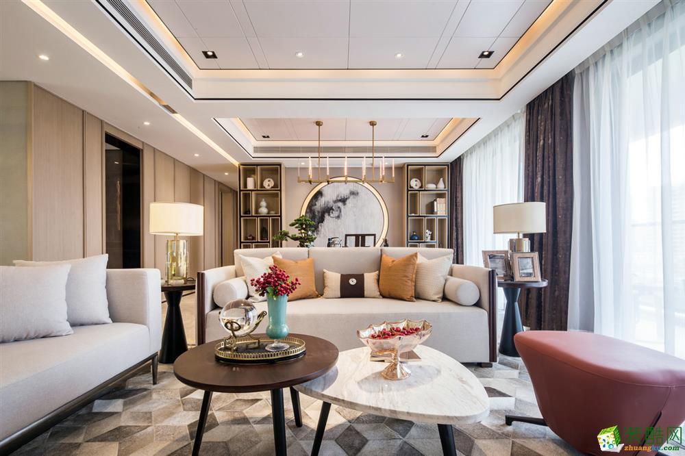 轻奢风格150平米四室两厅装修实景案例图--洛克整装