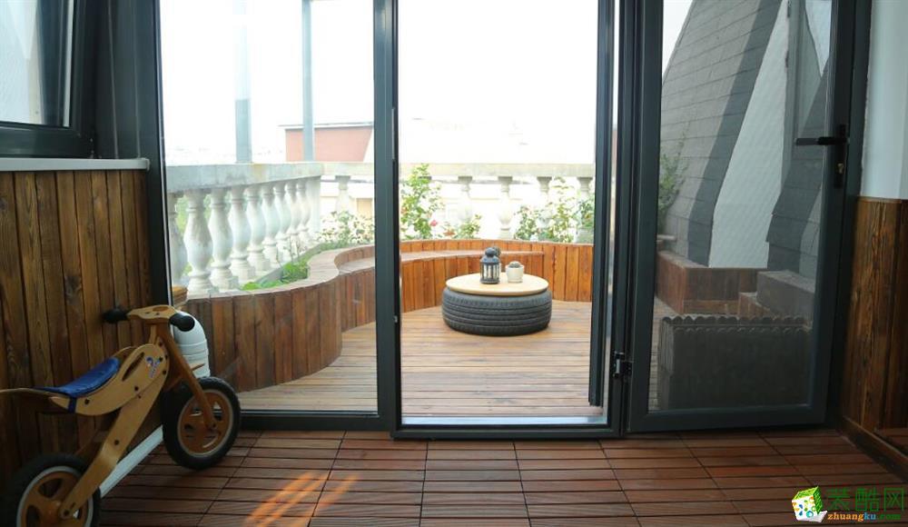 阳台  云南良策装饰-90�O简约两居室装修