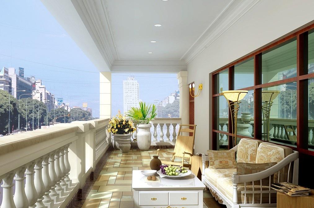 阳台装修效果图片享受午后阳光
