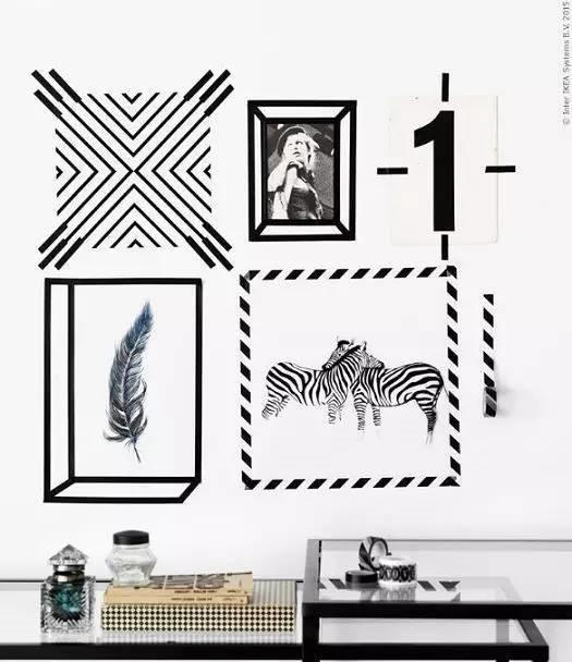 纸胶带还可以作为照片墙的装饰哦!图片