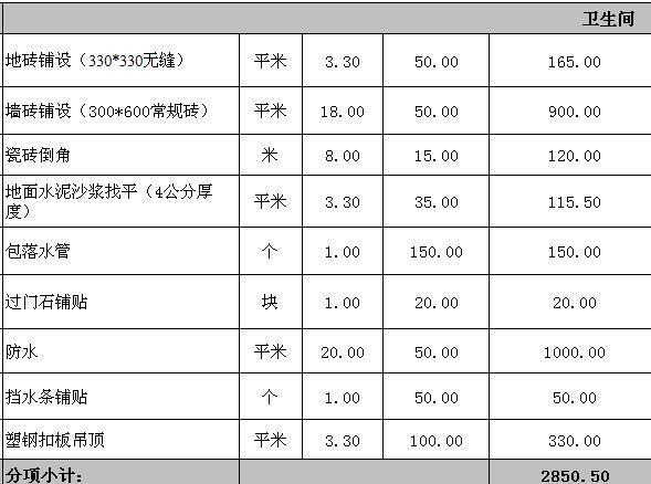 南京装修83平3万半包装修报价单(2016)