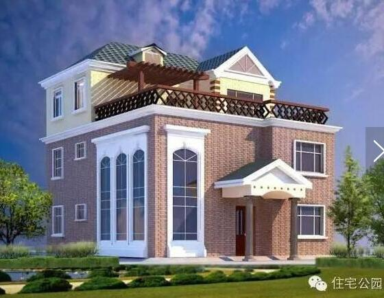 农村自建房子设计图落地窗