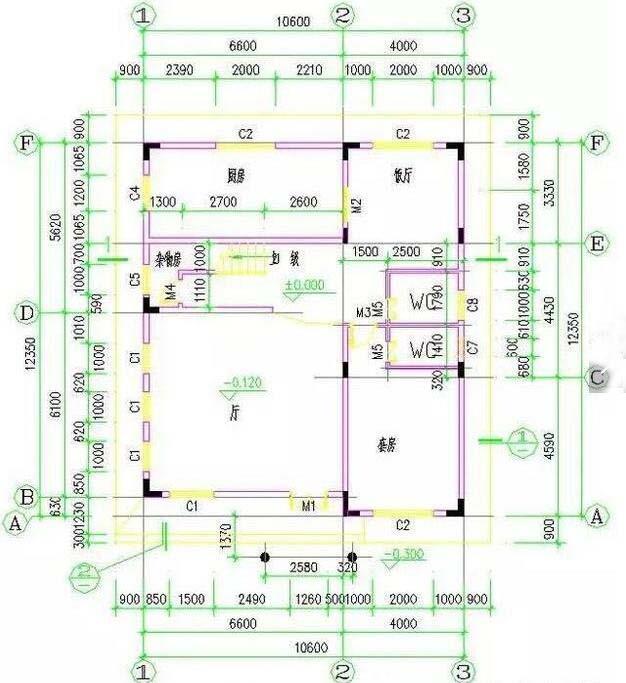 2套农村三层自建楼房方正户型,带农村三层平面图