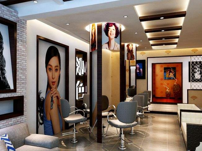 50平米左右的理发店面,简单装修如果包括墙面,地面砖或者木地板,顶面