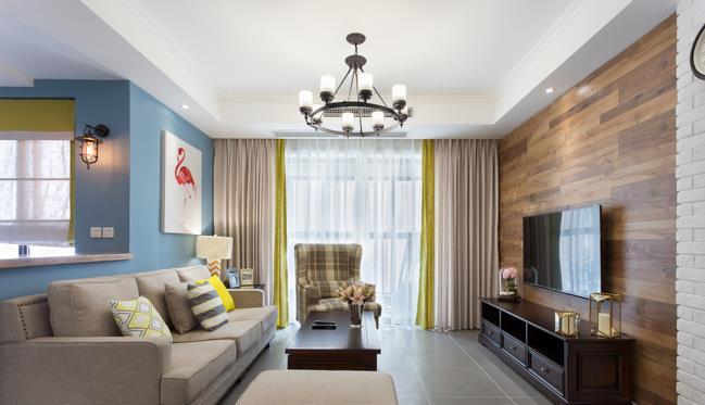 装修100平的房子要多少钱?10万装出100平美式田园风图片