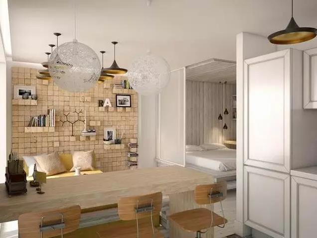 小户型单身公寓装修多少钱?6万精装45平创意单身天堂