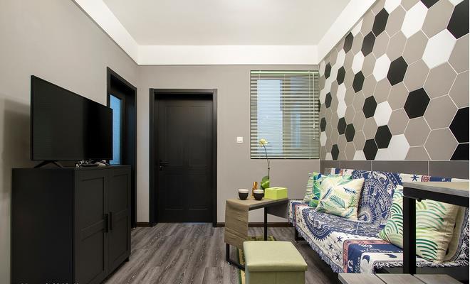 一室一厅客厅装修:像45平米大小的一室一厅客厅装修一定要充分利用