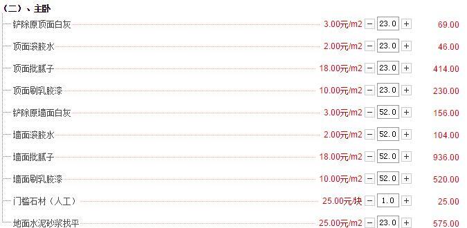 123平简单装修多少钱?123平半包装修预算表(价格详细)