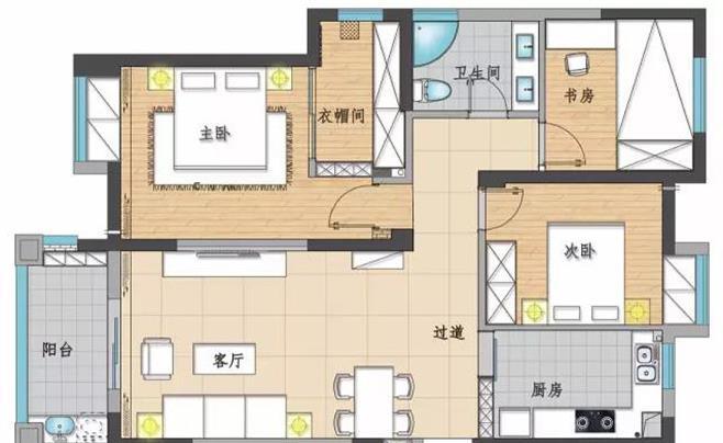 三居室北欧装修多少钱?11.5万全包110平三居室装修效果图