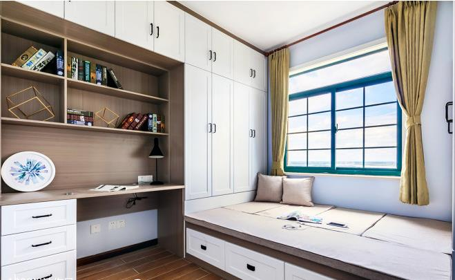 三居室北欧装修钱?11.5万全包110平三居室装修效果图视觉墙+背景比例黄金图片