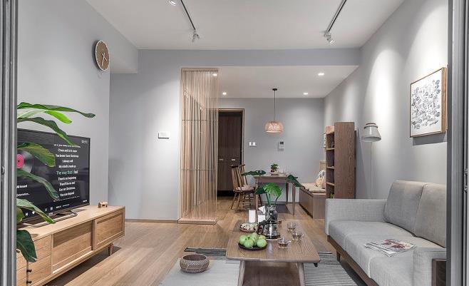 【装修面积】:90平米 【户型】:两居室小户型 【装修风格】:原木日式