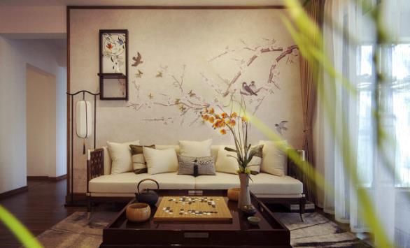 装酷网 软装设计  新中式装修风格,屏风,太师椅,灯笼,诗画等装饰中国