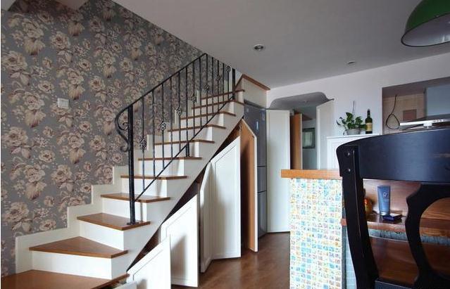 楼梯下面柜子造型图片