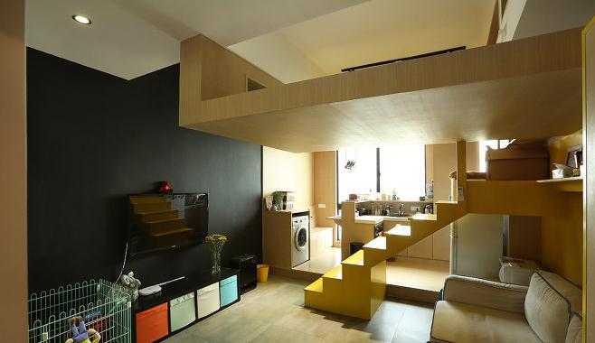 3.死角活用 一些不起眼的死角,往往会有出乎意料之外的巧妙用途的,比如楼梯踏板可做成活动板,利用台阶做成抽屉,做为储藏柜用,此外,楼梯间亦可充分发挥空间利用的功效,靠墙的一侧可作为展示柜,楼梯下方则可设计成架子及抽屉,具收纳的功能。 4.家具多功能化 以利用家具的功能用途,来扩大空间的多功能性、也是节省空间的一大技巧,所以在单间小户型装修中家具一定要好好挑选,这样既可以满足家居需要,又能扩展空间。