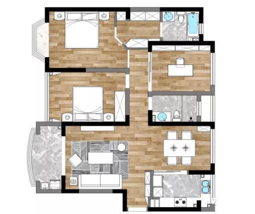 125平简单装修怎么做?超治愈北欧三居室装修分享