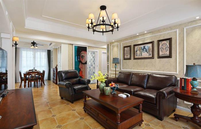 102平三居室美式装修,全包仅花18万,含蓄而大气!