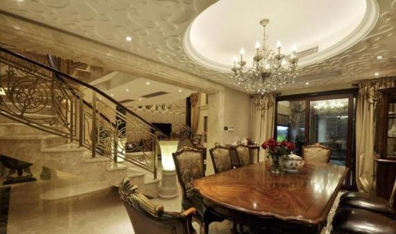 67500平欧式别墅装修多少钱?130万打造古典别墅装修