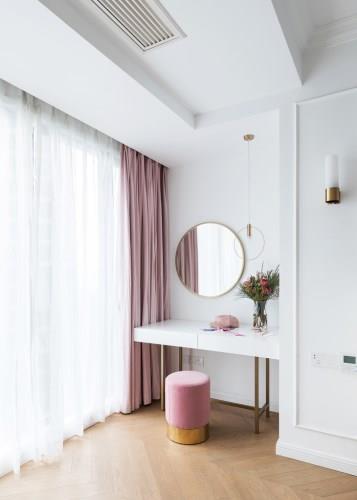 110平新房装修多少钱?重庆26万整装法式风超粉嫩