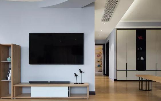 简约电视墙装修技巧,插座电视柜搭配很重要