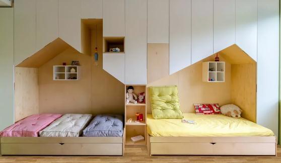 双人儿童房装修设计怎么做?小户型装修也让二孩有空间