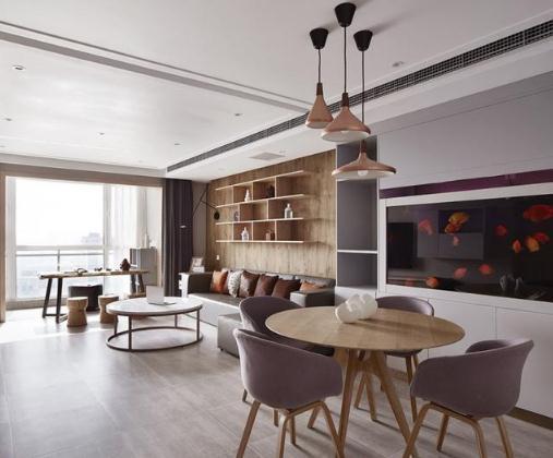 120平现代风三居室装修多少钱?30万打造定制装修