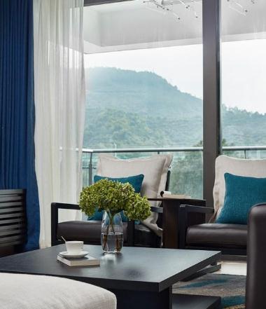 70万打造200平现代中式风装修,四室平层典雅装修