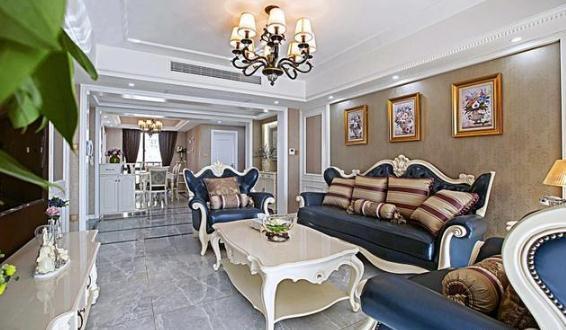 客厅电视机背景墙利用隐形门设计,加大了客厅的整体感.