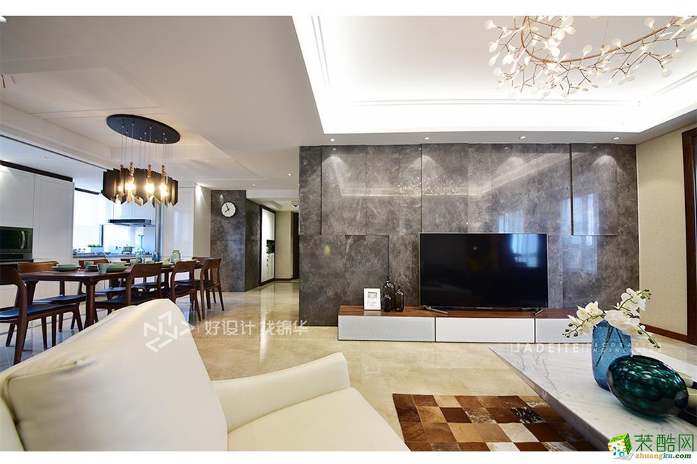 徐州小姐_【南通锦华】华强城158平三室两厅现代简约风格装修设计效果图 ...