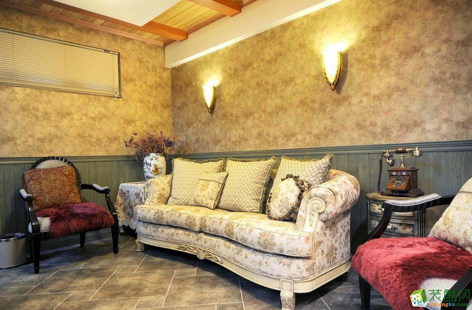 三室两厅|110平米|地中海风格|装修效果图 【锦华装饰】地中海风格|三室两厅|天鹅湖花园