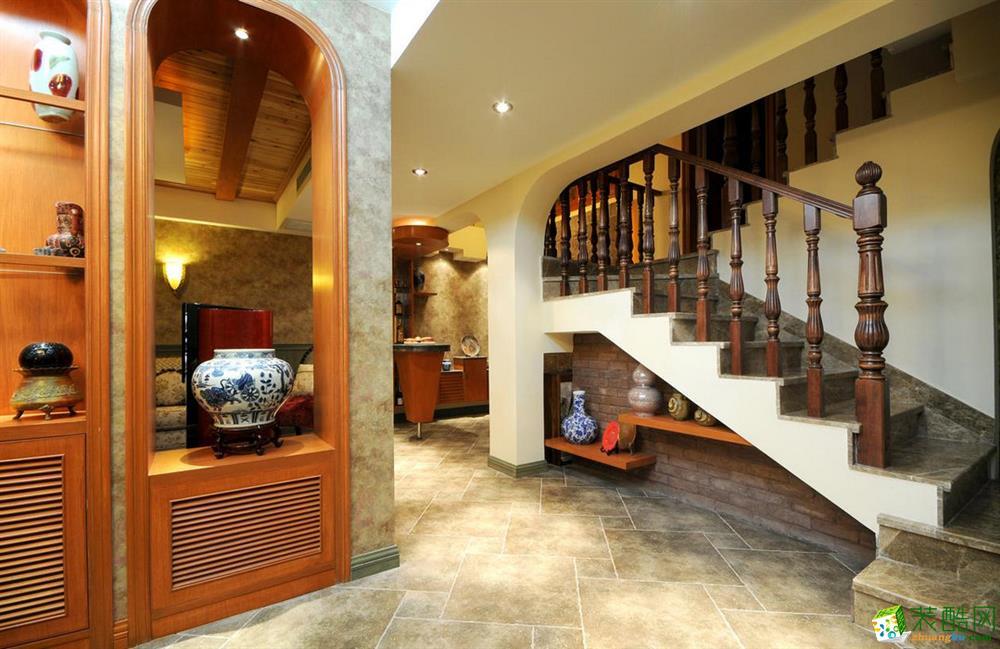 客厅 三室两厅|110平米|地中海风格|装修效果图 【锦华装饰】地中海风格|三室两厅|天鹅湖花园