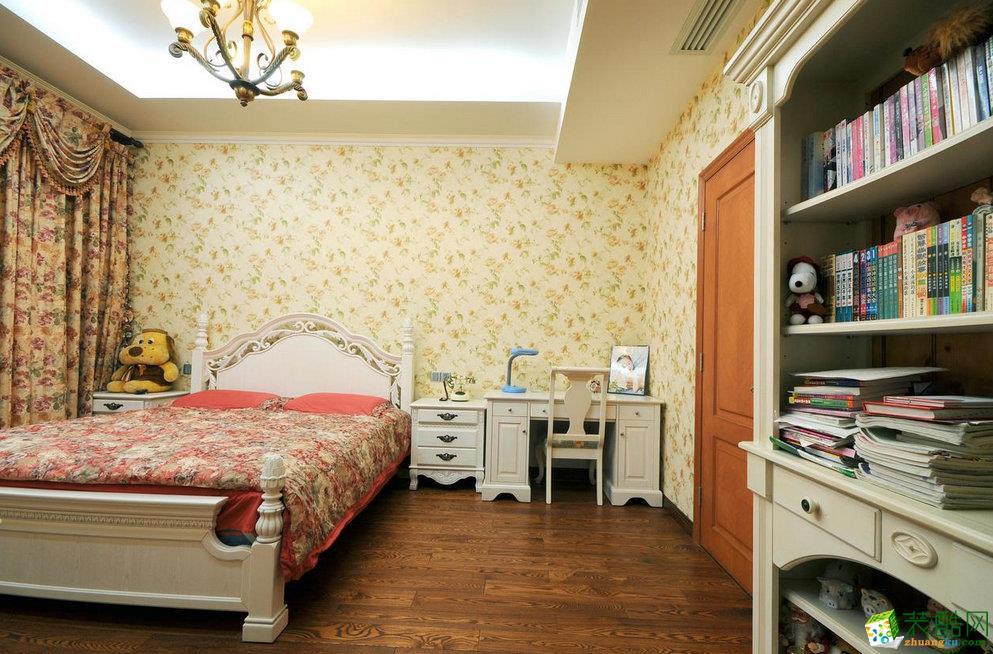 卧室 三室两厅|110平米|地中海风格|装修效果图 【锦华装饰】地中海风格|三室两厅|天鹅湖花园